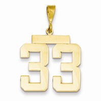 14k gold 33 CharmPendant gold number 33 number only is 1116h total 1-516h