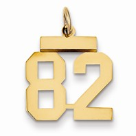 14k gold 82 Charm  Pendant gold number 82 number only is 12h total 1316h