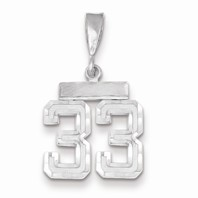14k white gold 33 CharmPendant white gold number 33 number only is 12 h total 1- 116