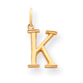 clearance item 14k gold initial K charm pendant